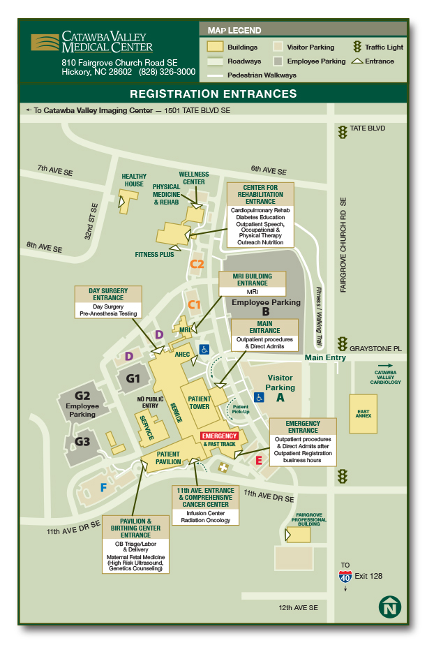 Campus Map | Catawba Valley Health Services on