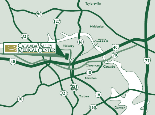 Location Directions Map Catawba Valley Health System