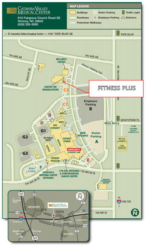 fitness center on map