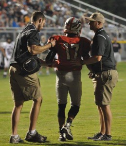 Ben Haddock, Greg Kirk, athletic trainers, CVMC sports medicine